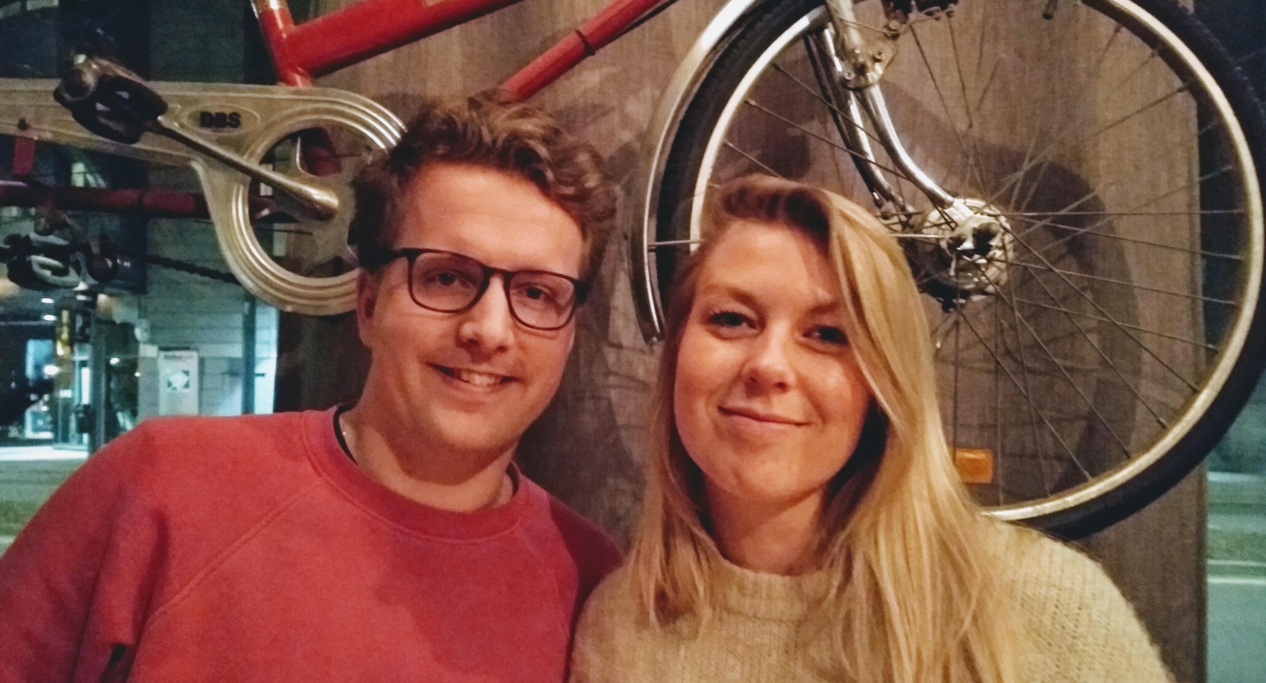 Bilde av listetoppene Geir Storli Jensen og Julie Mørch
