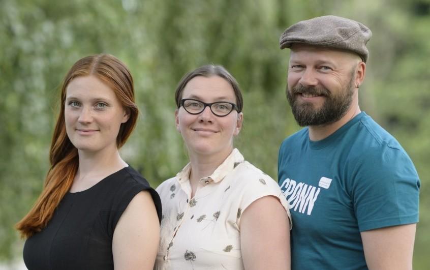 Fra venstre: Ingrid Kleiva Møller, Solveig Arnesen, Rasmus Reinvang